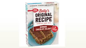 betty u0027s original recipe scratch cake mix german chocolate