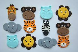 safari cake toppers jungle cupcake toppers zoo animal cupcake picks by bakery