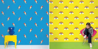 Colorful Wallpaper For Kids Room Designs From Wall Candy Arts - Kid room wallpaper