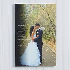 wedding sentiments personalized wedding photo canvas print 20x30 wedding gifts
