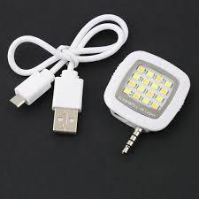 Light For Phone 3 5mm 16 Led Lamp External Camera Flash Fill Light Selfie For