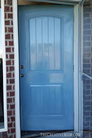 How To Paint An Exterior Door How To Paint Your Front Door And Add Curb Appeal The Creative