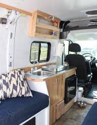 Design Your Own Motorhome Installing Galley Cabinet Sink Fridge Stove Build A Green Rv