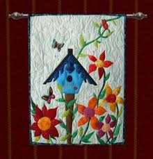 second marketplace quilt wall hanging bird house