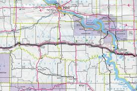 Illinois Road Map by Interstate Guide Interstate 90