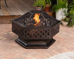 well traveled living patio heater ventura hexagon wood burning fire pit samsclub com exclusive
