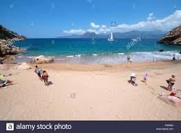 secluded tiny and beautiful beach at marine de ficajola piana