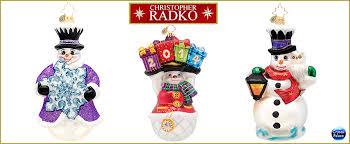 christopher radko snowman ornaments