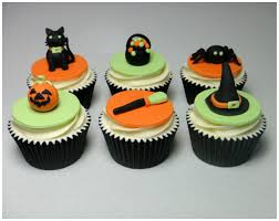 how to make halloween sugarpaste fondant cupcake topper cake