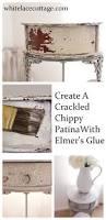 create a crackled distressed look using elmer u0027s glue white lace