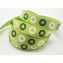 shamrock ribbon st s day ribbon printed ribbons ribbon bows
