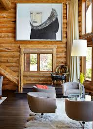 Log Cabin Living Room Designs Rustic Log Retreat Blends Modern Accents And Spectacular Views