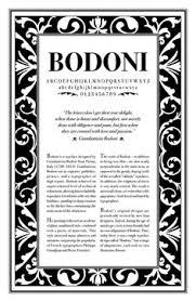 bodoni specimen on behance el segle d or de la tipografia
