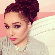 can i just u003c3 box braids with shaved side she u0027s killing this
