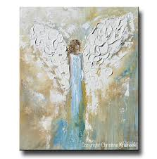 Modern Art Home Decor Print Angel Painting Abstract Guardian Angel Inspirational Wall