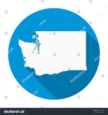 Washington State Detailed Map Stock by Washington State Map Flat Icon Long Stock Vector 656254300
