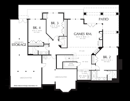 Great Room Plans Mascord House Plan 1319a The Jennings