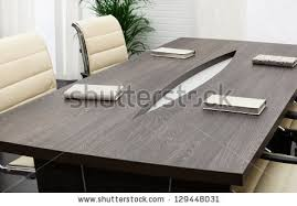 modern office conference table modern conference table office stock photo royalty free 129448031