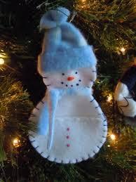 pocket snowman ornament sewing pattern craft idea