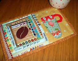 Quilted Mug Rug Pattern 141 Best Mug Rugs Images On Pinterest Table Runners Mini Quilts