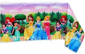 20 princess plastic tablecloth table cover cloth ariel snow