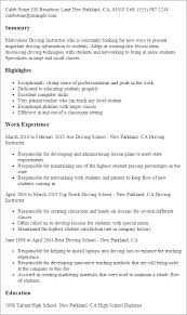 Best Way To Present Resume Professional Driving Instructor Templates To Showcase Your Talent