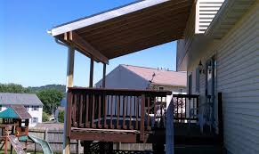 simple deck roof existing deck that needed a budget friend