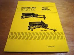 new holland 68 hay baler hayliner parts catalog book list manual