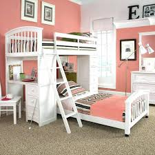 girls loft bed with a desk and vanity chelsea vanity loft bed full white pbteen home and design inside