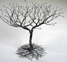 necklace holder stand images Black large earring tree stand wire tree jpg