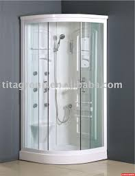 Small Corner Showers Bathroom Design Small Corner Shower Stall Kits With Silver Frame