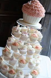 i like the idea of cupcakes instead of a cake for a wedding and