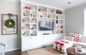decorating built ins how to decorate your built in shelves for the holiday season