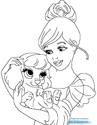 coloring pages palace pets princesses coloring