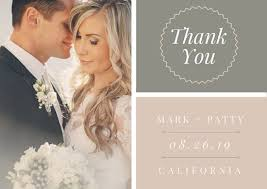 wedding thank you cards wedding thank you card templates canva photo wedding thank you