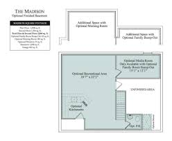 Finished Basement Floor Plans The Madison In Wheatland Farms Community Floor Plans In
