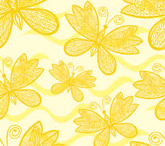 yellow butterfly pattern custom printed blinds blinds