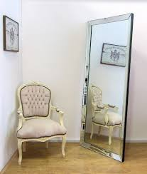 Beveled Floor Mirror by Interior Frameless Full Length Mirror Floor Length Mirrors