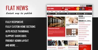 download free flat news blogger template bloggersstand