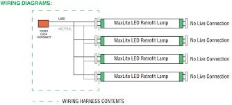 shunted vs non shunted l holders maxlite g13kit4 1409029 four 4 socket t8 wiring harness non