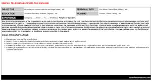 telephone operator cover letter u0026 resume