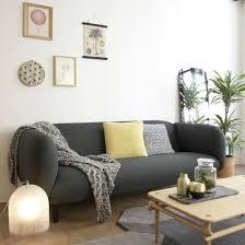 canapé anthracite canapé en tissu gabriel gris l 204 pieds bois moïra eno studio