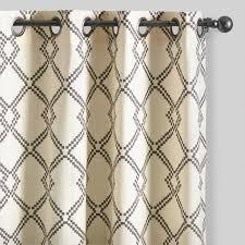 Lattice Design Curtains Charcoal Gray Lattice Cotton Curtains Set Of 2 World Market