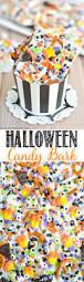 halloween oreo candy bark a pumpkin and a princess