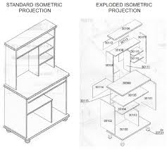 Simple Drafting Table Isometric Drawing And Designers