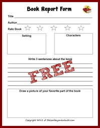 2nd grade book report template free book report form free books books and homeschool