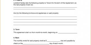 very simple rental agreement template example in doc with 6 points
