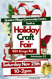 3rd annual holiday craft fair victoria buzz