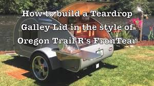 how to build a galley hatch lid for your teardrop trailer youtube