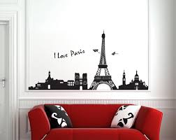 Eiffel Tower Garden Decor Removable Modern Wall Sticker Decal Eiffel Tower Design Wall Paper
